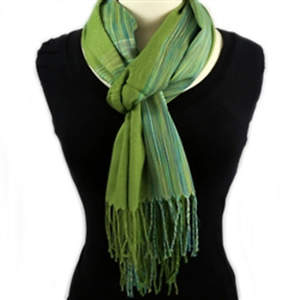Thai Lightweight Shawl - Green