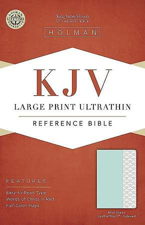 KJV Large Print Ultrathin Reference Bible, Mint Green Leathertouch, Indexed