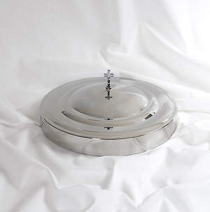 Communion Tray Cover: Silver: Stainless Steel