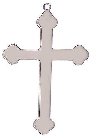 Silver Finish Choir Cross Budded Necklace