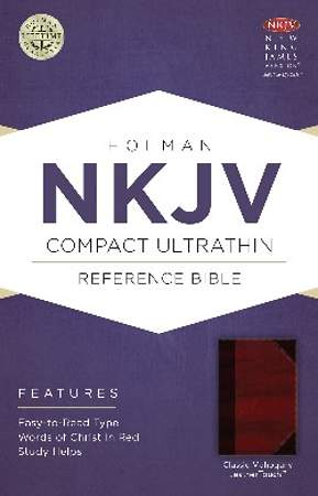 NKJV Compact Ultrathin Bible, Classic Mahogany Leathertouch