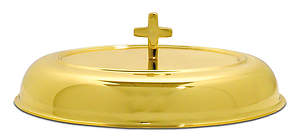Cover Brass Communion Loaf Server;  8 7/8