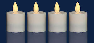 Flameless Candles Rechargeable Votive Replacements (Pack of 4)