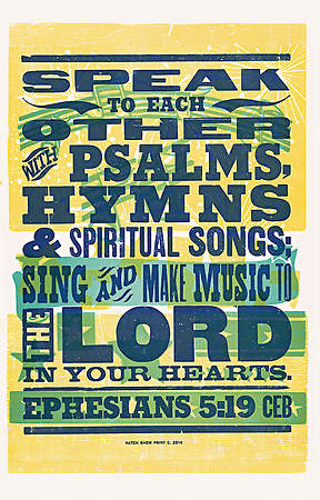 Sing and Make Music Common English Bible Poster