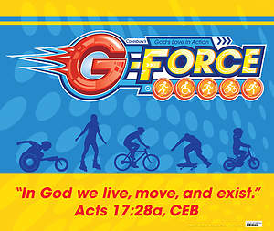 Vacation Bible School (VBS) 2015 G-Force Large Logo Poster