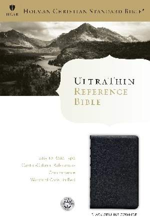 HCSB Ultrathin Reference Bible, Black Calfskin