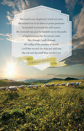 Psalm 23 Bulletin Package of 100