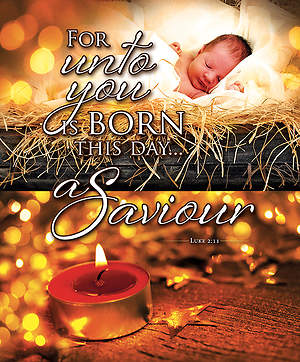 Christmas For Unto You Bulletin Luke 2:11 KJV Large (Package of 100)