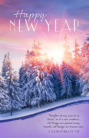 New Year Bulletin - 2 Corinthians 5:17 New Year (Pack of 100)