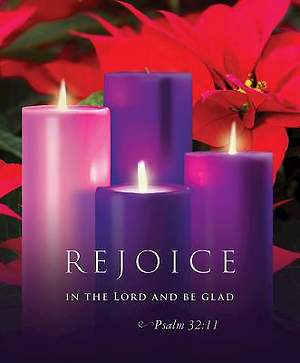 Rejoice Advent Sunday 3 Bulletin 2015, Large (Package of 50)