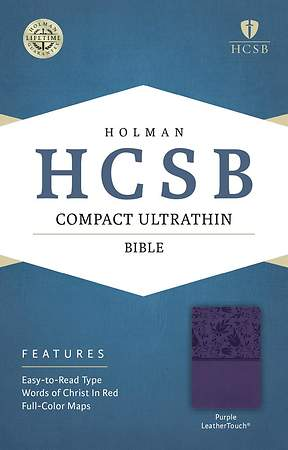 Bible HCSB Compact Ultrathin Purple Leathertouch