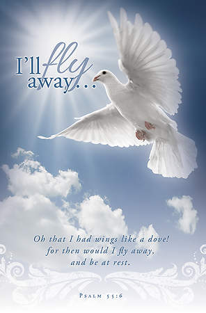 Funeral Bulletin I`ll Fly Away (Package of 100)