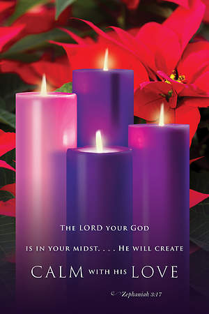 Calm with His Love Advent Sunday 4 Bulletin 2015, Regular (Package of 50)