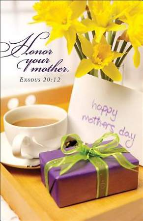 Breakfast Tray Mother`s Day Bulletin 2014, Regular (Package of 50)
