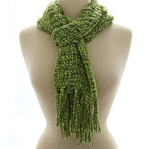 Thai Cozy Scarf - Lime
