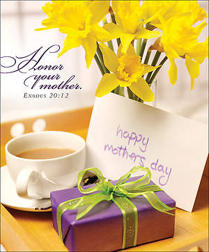 Breakfast Tray Mother's Day Bulletin 2014, Large (Package of 50)