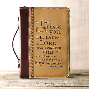 I Know the Plans LuxLeather Large Two-Tone Bible Cover