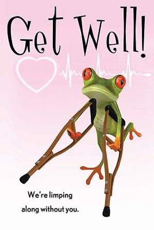 Get Well! Frog Postcard (Package of 25)