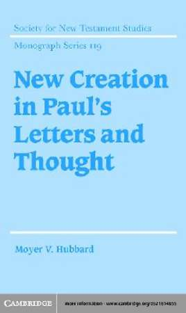 New Creation in Paul's Letters and Thought [Adobe Ebook]