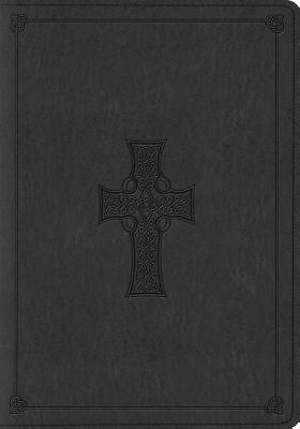 ESV Large Print Bible (Trutone, Charcoal, Celtic Cross Design)