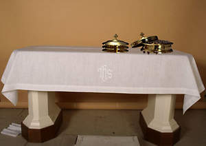 Easy-Care IHS Communion Table Cover 47
