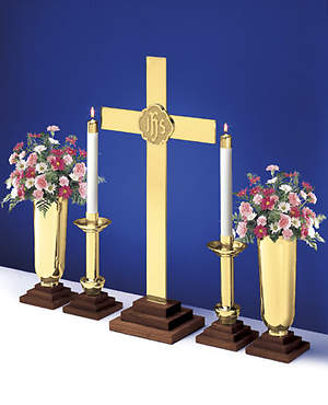 Chapel Line Solid Brass Altarware with 24