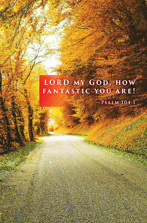 Lord My God Fall Bulletin 2015, Regular (Package of 50)