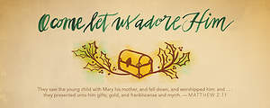 Christmas Offering Envelope - Matthew 2:11 O Come Let Us Adore Him (Pack of 100)