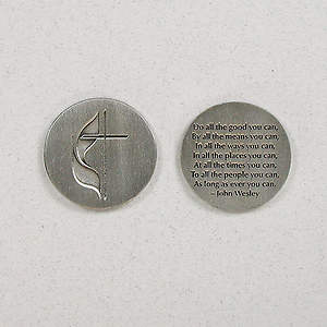 Cross & Flame/John Wesley Pocket Coins