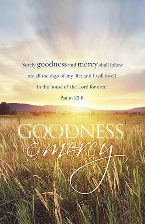 Goodness and Mercy Funeral Bulletin Regular Package of 100
