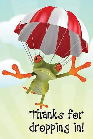 Thanks for Dropping In! Frog Postcard (Package of 25)