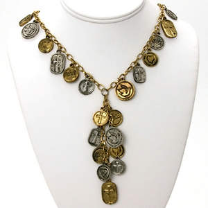 India Christian Coin Necklace