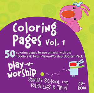 Play-n-Worship Coloring Pages for Toddlers & Twos Volume 1 CD-ROM