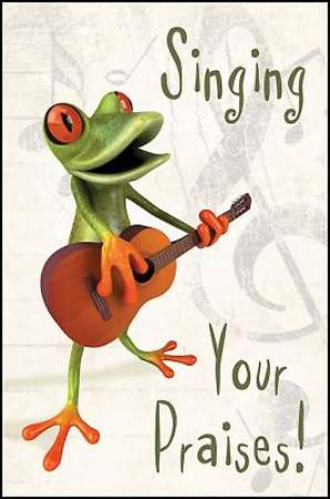 Singing Your Praises Frog Postcard (Package of 25)