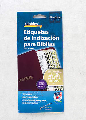 Bible Tabs Clear Black Lettering Large Print, Spanish (With Booklet)