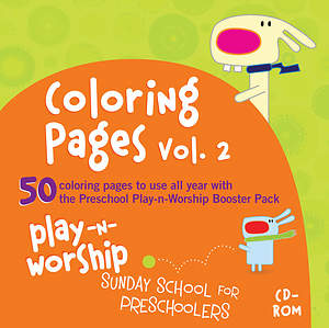 Play-n-Worship Coloring Pages for Preschool Volume 2 CD-ROM