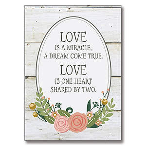 Love Miracle Wedding Cards - Set of 6