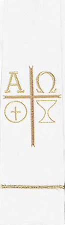 Communion White Chalice Wafer Symbol Stole