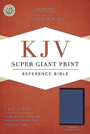 KJV Super Giant Print Reference Bible, Cobalt Blue Leathertouch