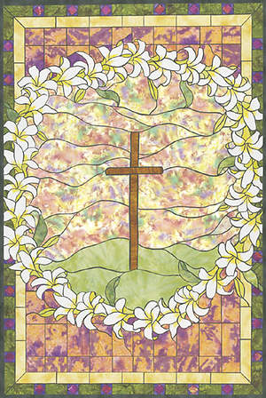 Stained Glass Easter Center-View Banner 4x6
