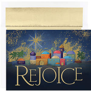 Rejoice Bethlehem Boxed Christmas Cards - Box of 18