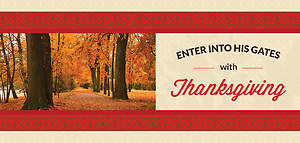 Thanksgiving Offering Envelope - Psalm 100:4-5 Enter His Gates (Pack of 100)