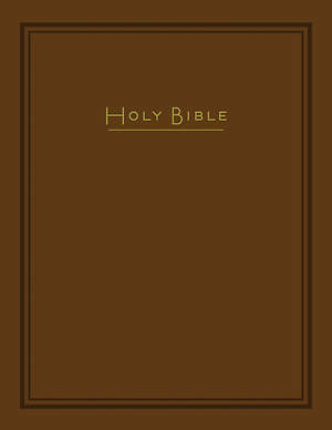 CEB Common English Super Giant Print Bible, Padded Brown Hardcover