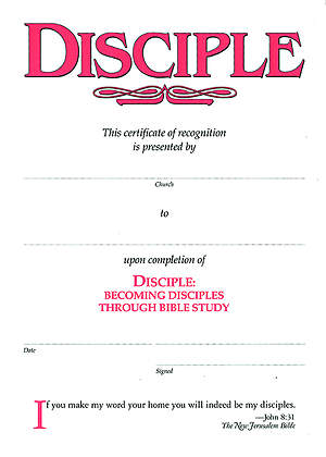 Disciple I Becoming Disciples Through Bible Study: Certificates (Package of 6)