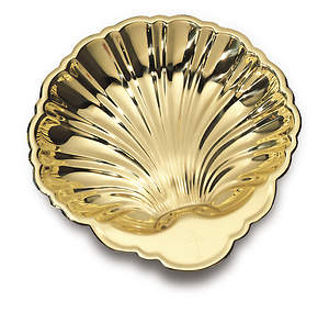 Small Solid Brass Baptismal Shell