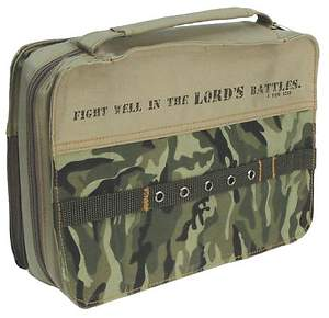 Bible Cover Fight Well in the Lord Camouflage Medium