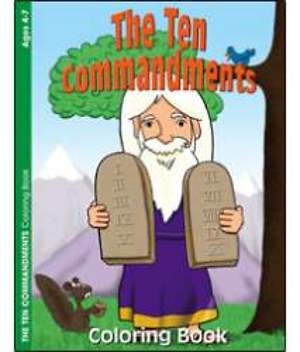 The Ten Commandments Coloring Book - Pack of 6