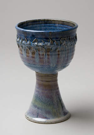 Crown of Thorns Large Porcelain Chalice, Blue