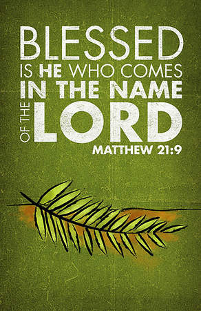 Matthew 21:9 Palm Sunday Banner with Palm Branch 3'x5'