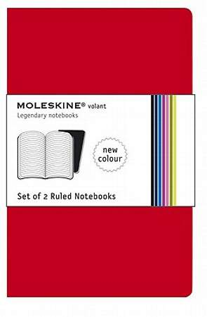Notebooks Moleskine Volant Ruled Red Extra Small